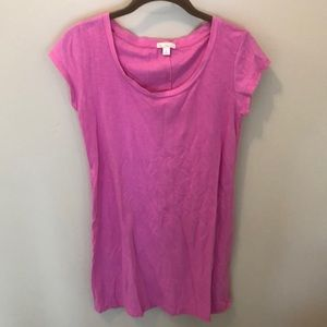 Gap Pink T-Shirt Dress